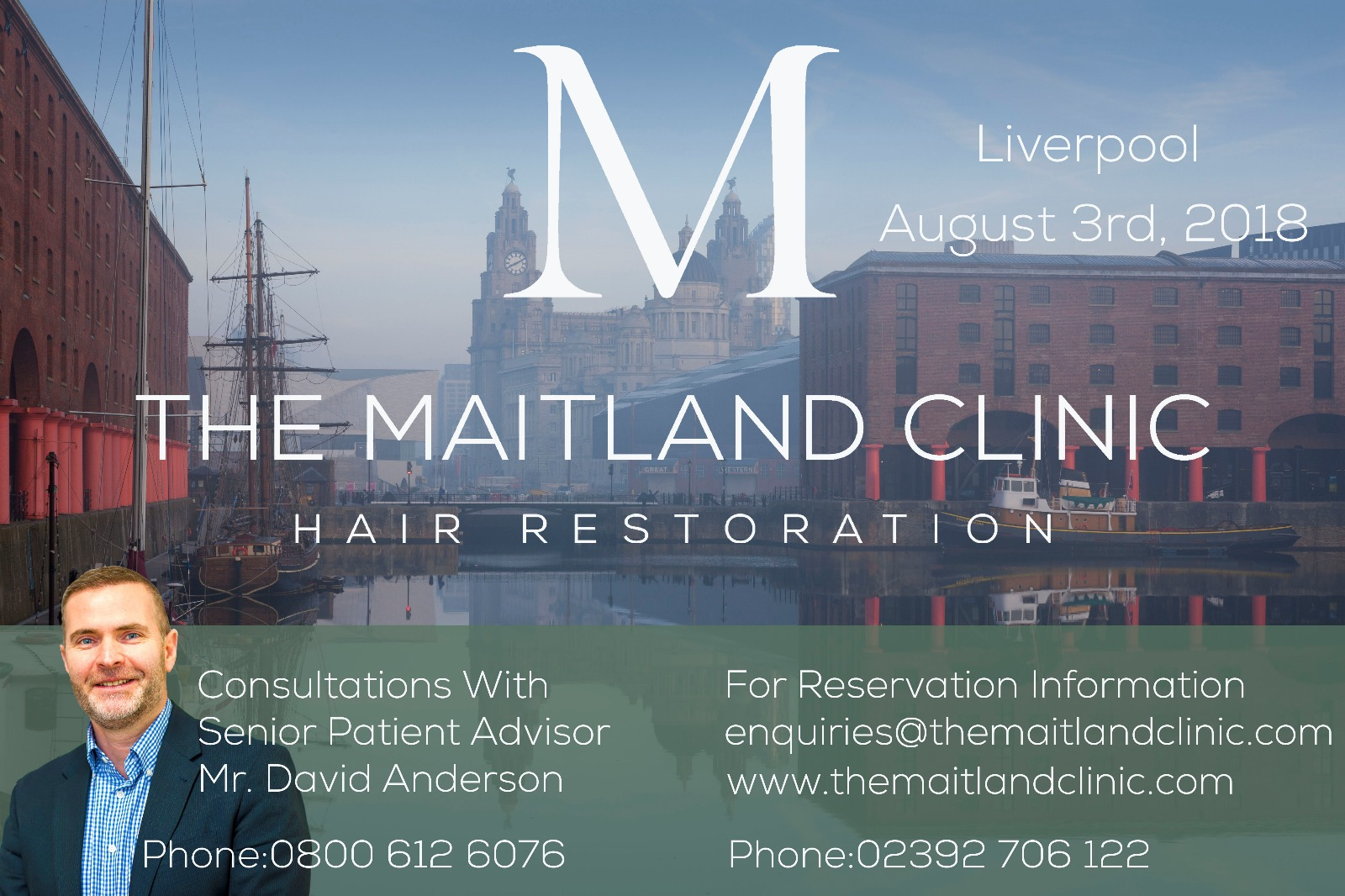 Liverpool Hair Transplant Consultations- Friday August 3rd 2018