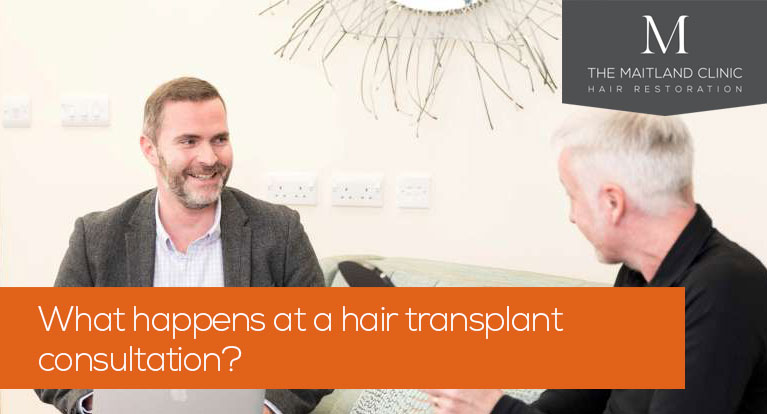 What happens at a hair transplant consultation?