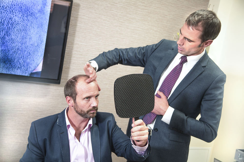 Who is a candidate for hair transplant surgery?