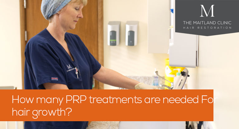How many PRP treatments are needed for hair growth?