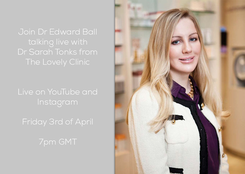 Join Dr. Edward Ball talking live with Dr. Sarah Tonks Friday 3rd April 2020 7pm GMT