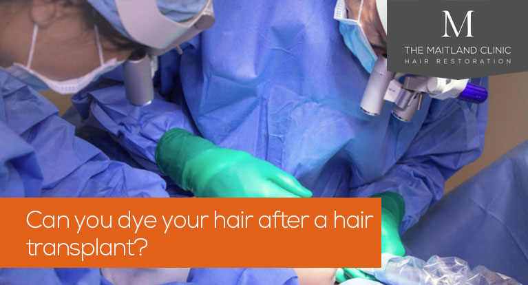 Can you dye your hair after a hair transplant?